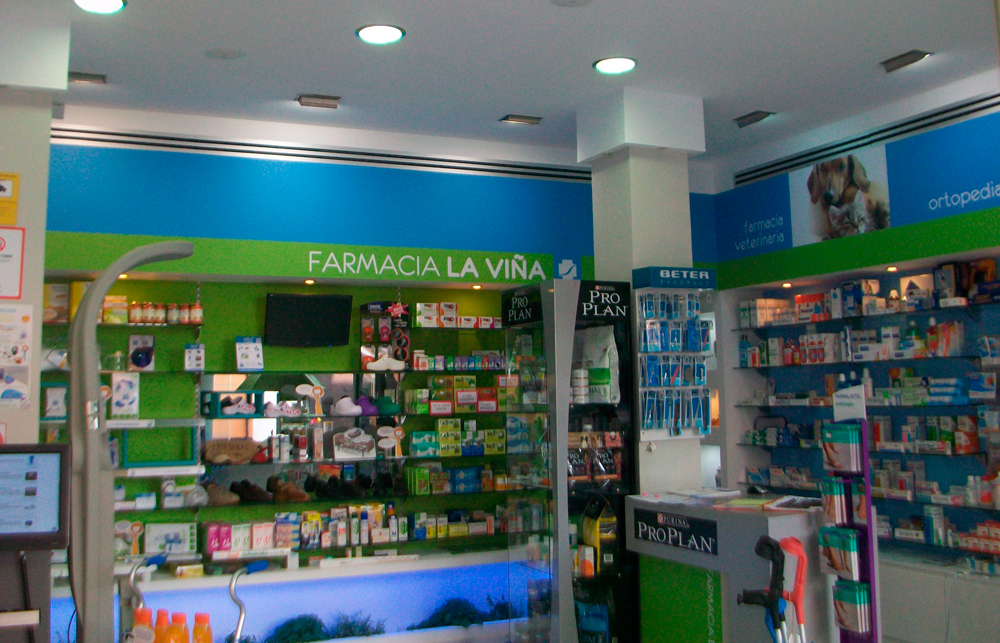 Rotulación interior farmacia