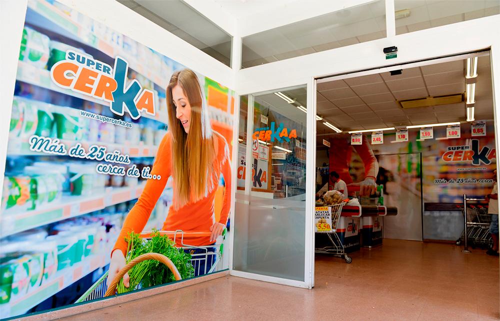 Rotulación interior supermercado