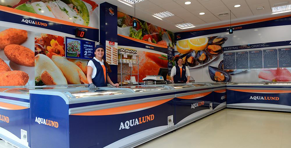 Rotulación tienda Aqualund