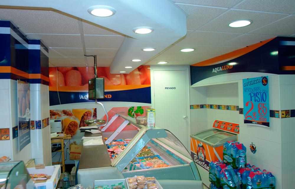 rotulación interior tienda congelados