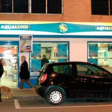 rotulación tienda aqualund cadiz