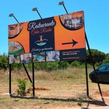 valla publicitaria restaurante