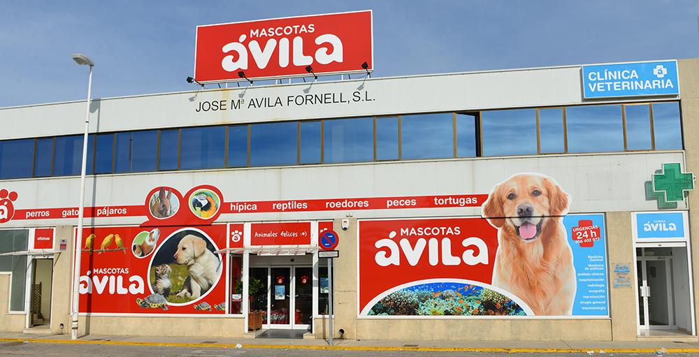 rotulación tienda Ávila