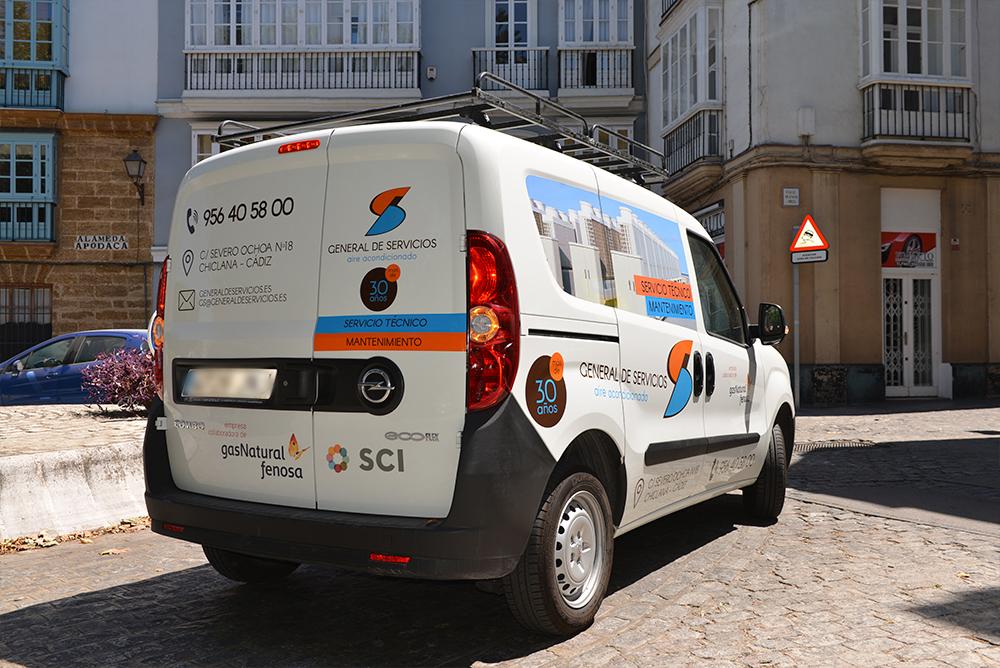rotulación vehículo general de servicios