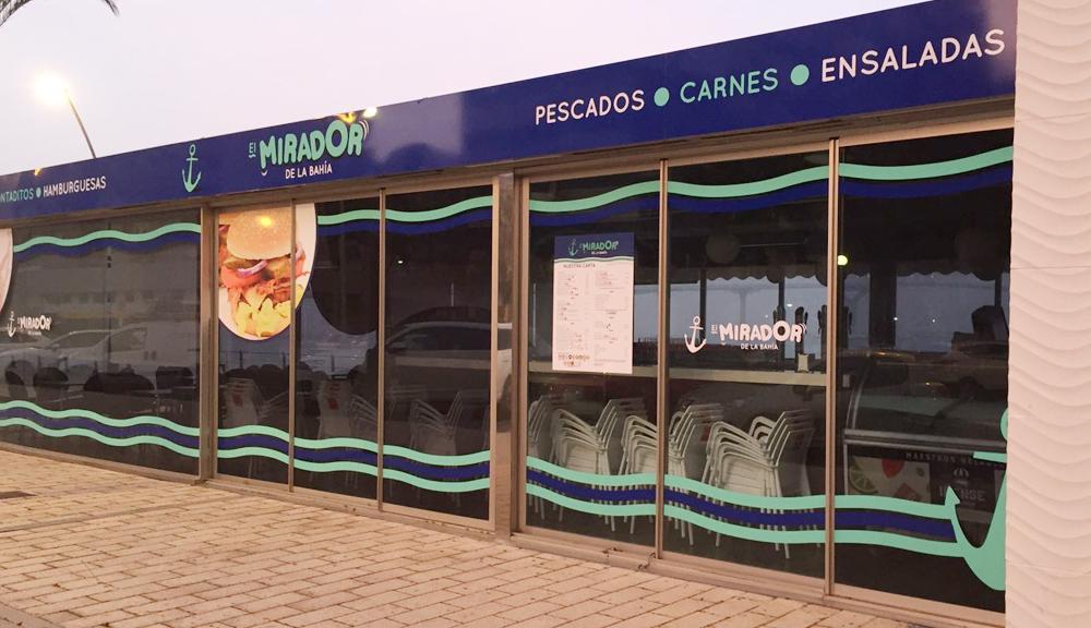rotulación bar elmirador bahia Cádiz