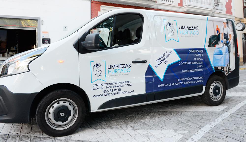 rotulación furgoneta empresa limpieza