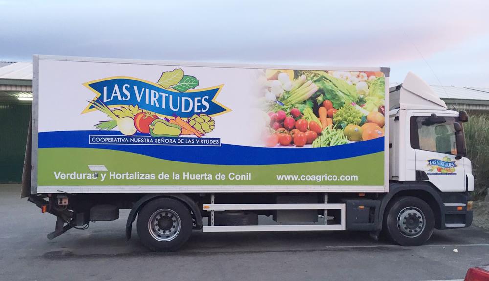 rotulación camión las virtudes