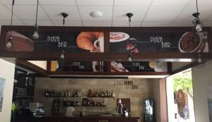 rotulación interior cafetería